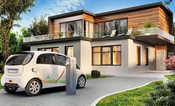 borne-recharge-voiture-electrique-maison-intelligente